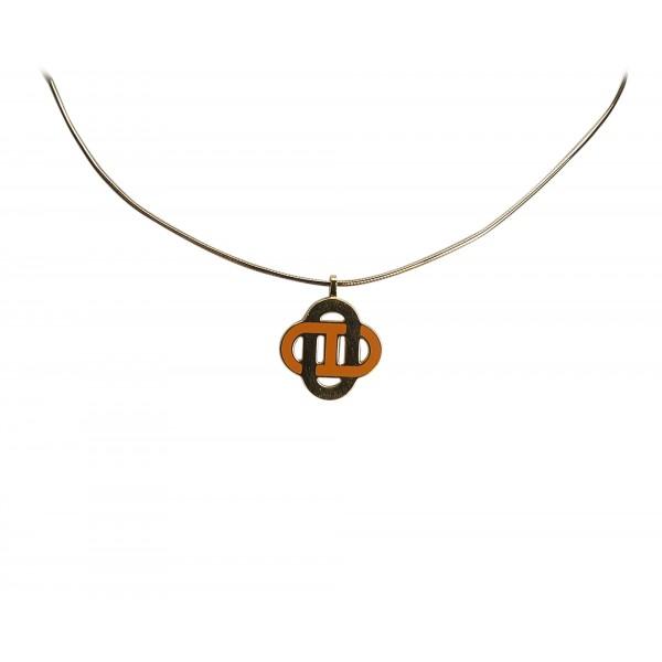 Hermès Vintage - Metal Isatis Pendant Necklace - Oro Arancione - Collana Hermès - Alta Qualità Luxury