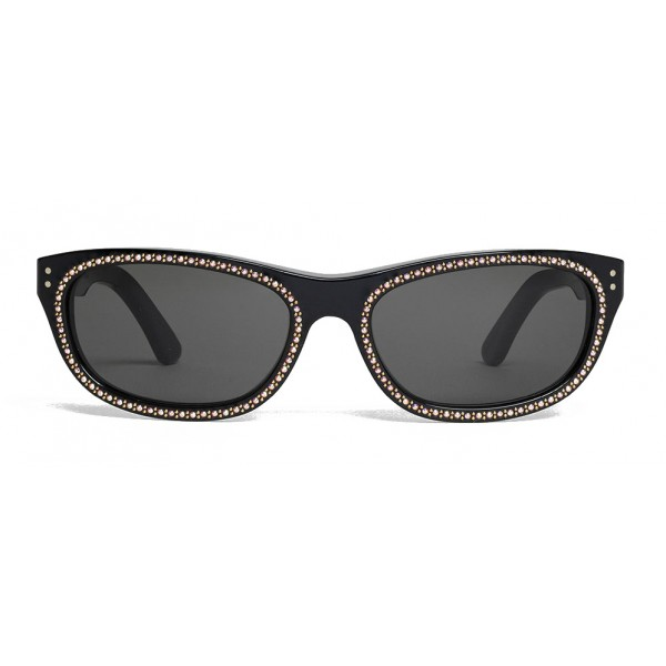Céline - 07 Sunglasses in Acetate with Crystals and Metal - Black - Sunglasses - Céline Eyewear