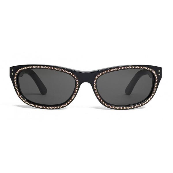 Céline - Occhiali da Sole 07 in Acetato con Cristalli e Metallo - Nero - Occhiali da Sole - Céline Eyewear