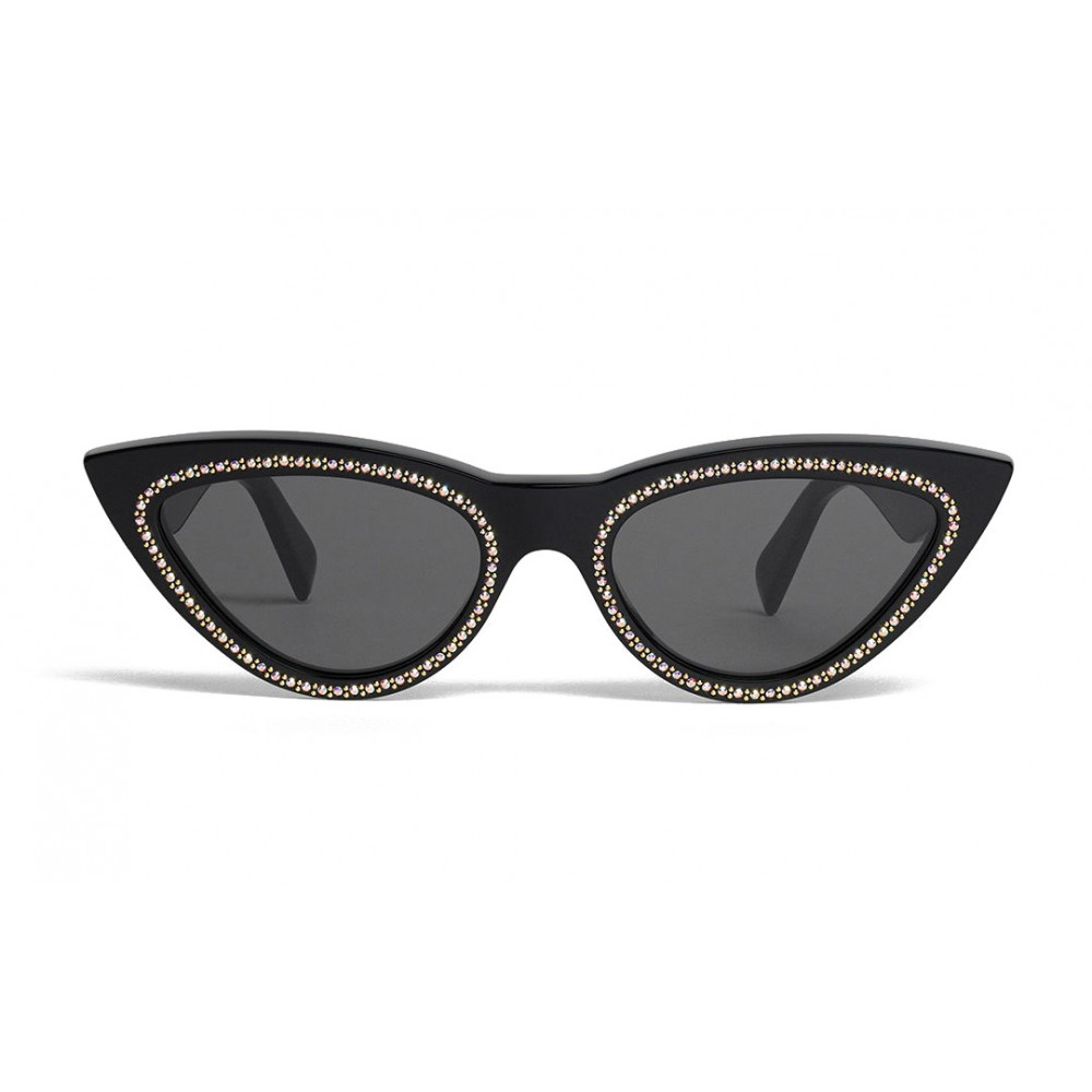 3ee2c2f3cd Céline - Cat Eye Sunglasses in Acetate with Crystals and Metal - Black -  Sunglasses - Céline Eyewear - Avvenice