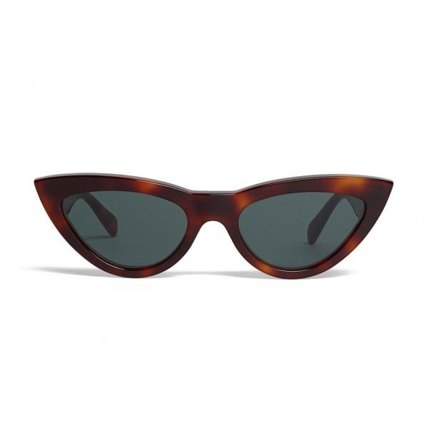 Céline - Cat Eye Sunglasses in Acetate - Blonde Havana - Sunglasses - Céline Eyewear