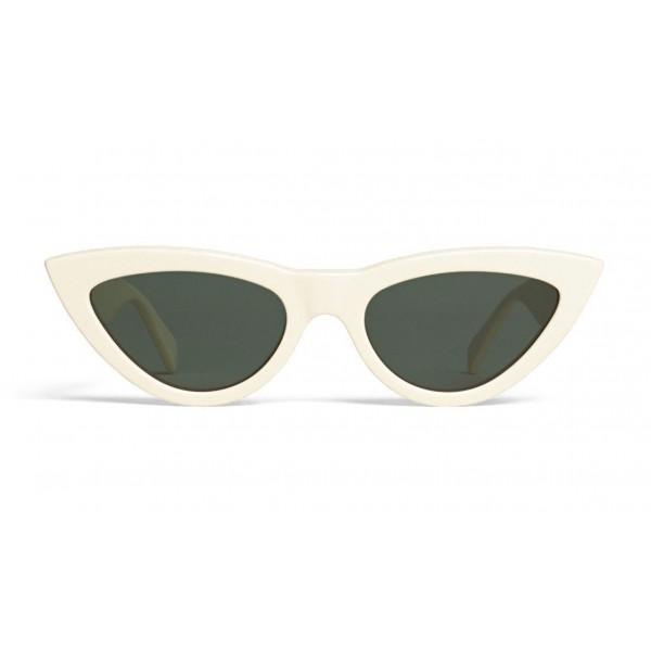 Céline - Cat Eye Sunglasses in Acetate - White - Sunglasses - Céline Eyewear