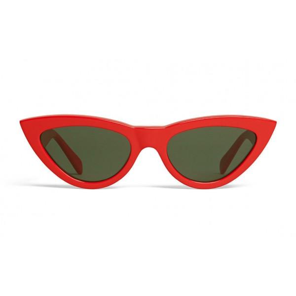 Céline - Cat Eye Sunglasses in Acetate - Red - Sunglasses - Céline Eyewear