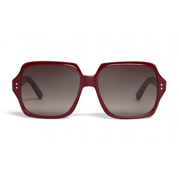 Céline - Oversized Sunglasses in Acetate - Milky Burgundy - Sunglasses - Céline Eyewear