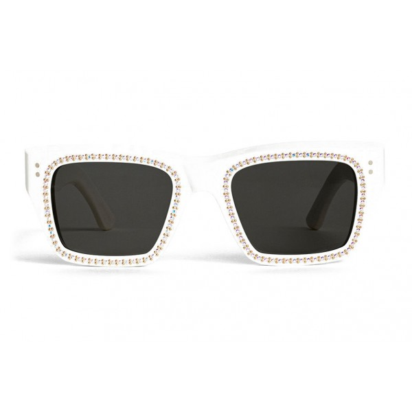 3ab3215341bd Céline - Square Sunglasses 02 in Acetate with Crystals and Metal - Optical  White - Sunglasses