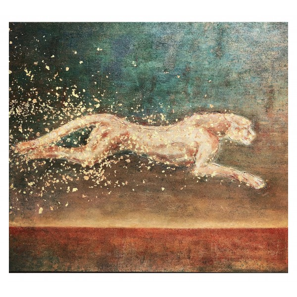 Eliza Oynus - Cheetah - Installation - Silk - Linen - Gold