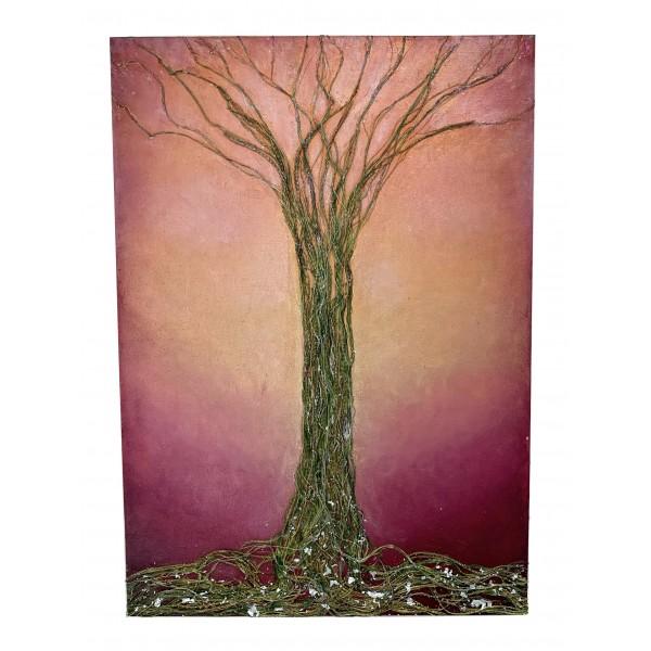 Eliza Oynus - Rose Tree - Installation - Silk - Linen - Gold