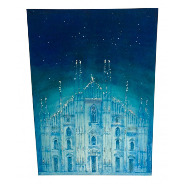 Eliza Oynus - Duomo di Milano - Installazione - Seta - Lino - Oro