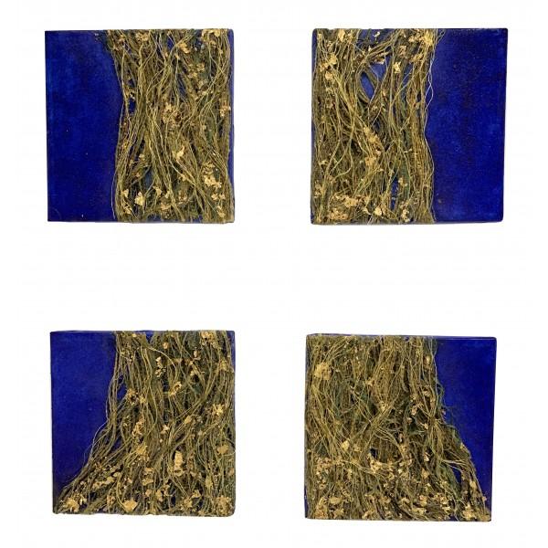 Eliza Oynus - Oltramare Tree - Installation - Silk - Linen - Gold