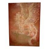 Eliza Oynus - Winged Lion - Installation - Silk - Linen - Gold