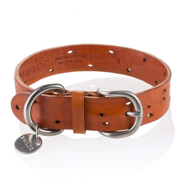 B Wilde Collection - Set Domino - Biscuit - Collar & Leash - Domino Collection - Leather Collar - High Quality Luxury
