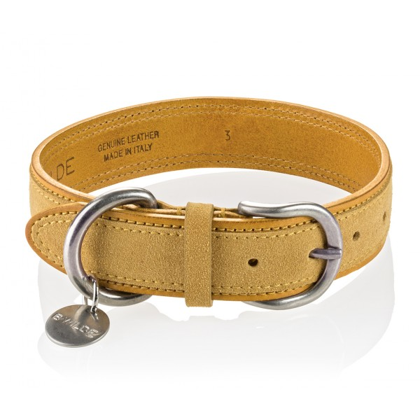 B Wilde Collection - Set Tango - Tuscany Yellow - Collar & Leash - Tango Collection - Leather Collar - High Quality Luxury