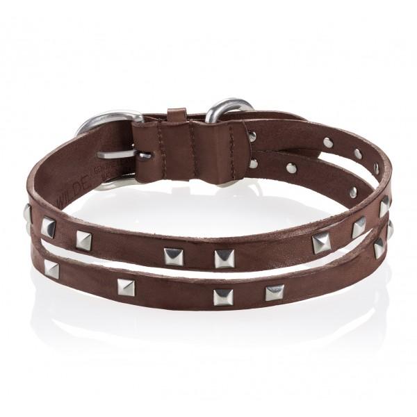 B Wilde Collection - Set Cairo - Biscotto - Collare e Guinzaglio - Cairo Collection - Collare in Pelle - Alta Qualità Luxury