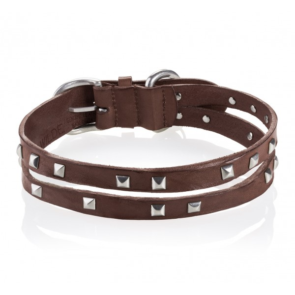 B Wilde Collection - Set Cairo - Biscuit - Collar & Leash - Cairo Collection - Leather Collar - High Quality Luxury