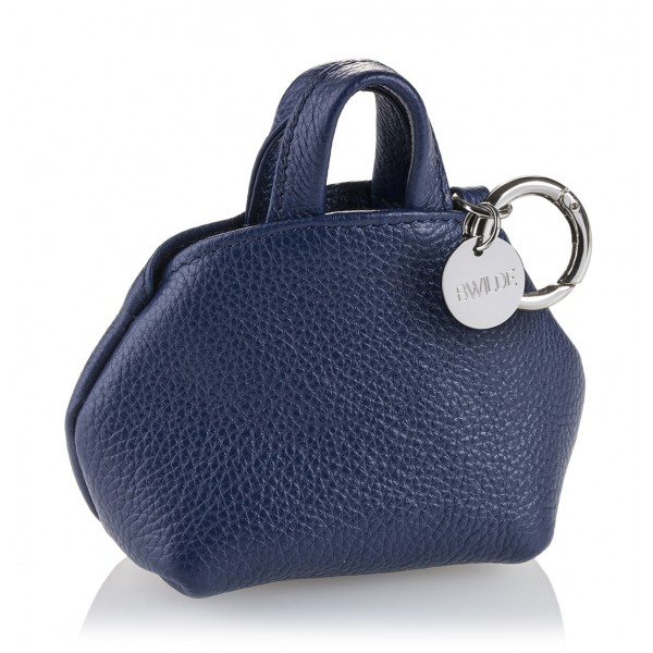 B Wilde Collection - Mini Dog Bag Dispenser - Blu Navy - Wilde Collection - Dispenser in Pelle - Alta Qualità Luxury