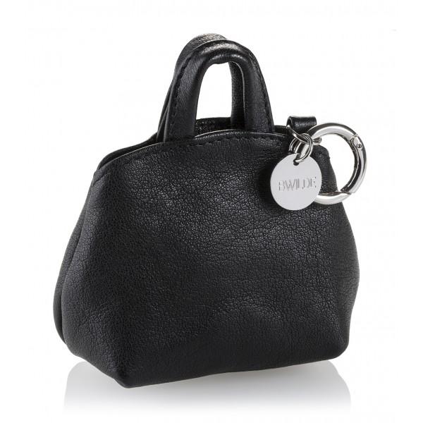 B Wilde Collection - Mini Dog Bag Dispenser - Laminated Graphite - Wilde Collection - Leather Dispenser - High Quality Luxury