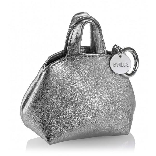 B Wilde Collection - Mini Dog Bag Dispenser - Laminated Grey - Wilde Collection - Leather Dispenser - High Quality Luxury