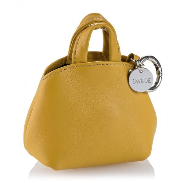B Wilde Collection - Mini Dog Bag Dispenser - Tuscany Yellow - Wilde Collection - Leather Dispenser - High Quality Luxury