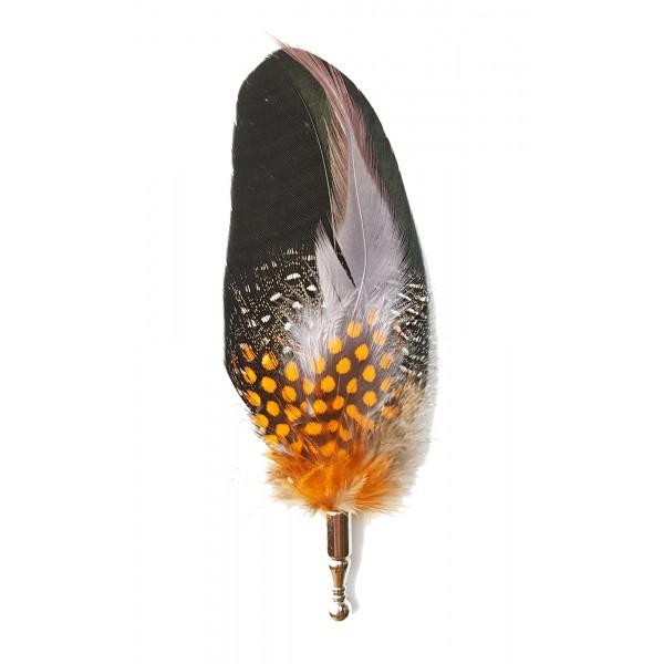 Genius Bowtie - Edison - Nero - Pin in Vere Piume - Spilla di Alta Qualità Luxury