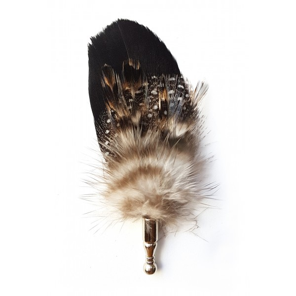 Genius Bowtie - Galileo - Black - Real Feathers Pin - Luxury High Quality Pin