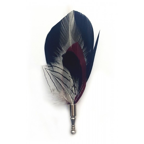 Genius Bowtie - Hawking - Nero - Pin in Vere Piume - Spilla di Alta Qualità Luxury