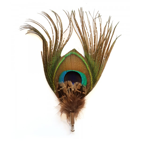 Genius Bowtie - Pitagora - Mandorla - Pin in Vere Piume - Spilla di Alta Qualità Luxury
