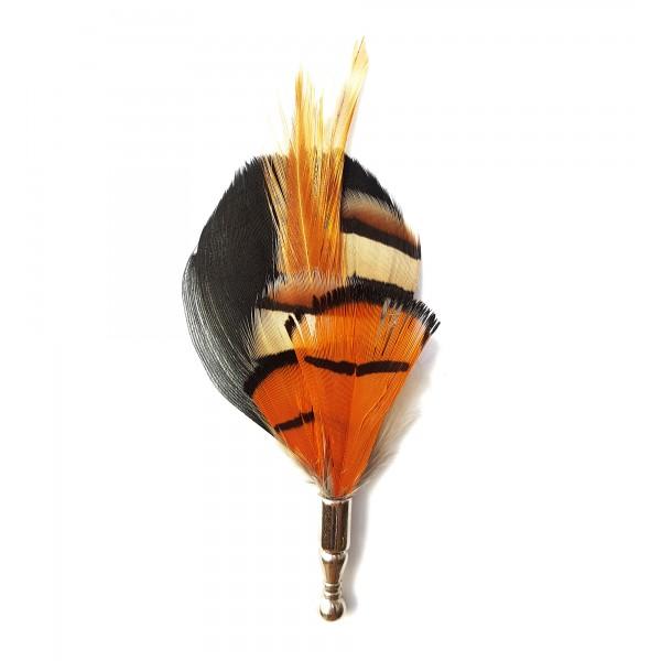 Genius Bowtie - Van Gogh - Giallo Nero - Pin in Vere Piume - Spilla di Alta Qualità Luxury