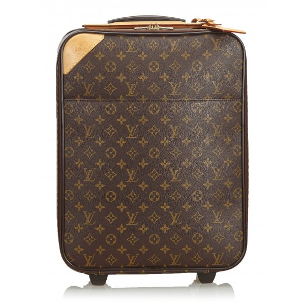 Louis Vuitton Vintage - Damier Ebene Pegase 45 Trolley - Brown - Leather Trolley - Luxury High Quality