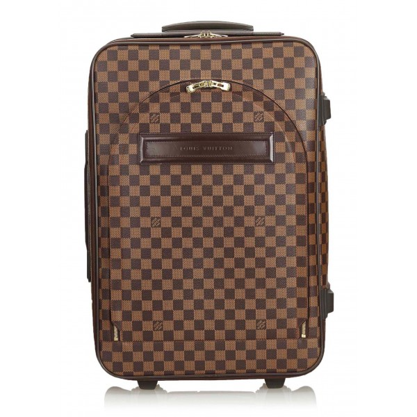 Louis Vuitton Vintage - Damier Ebene Pegase 60 Trolley - Brown - Leather Trolley - Luxury High Quality