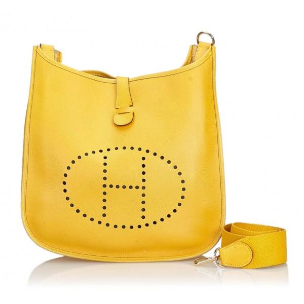 Hermès Vintage - Leather Evelyne I GM Bag - Yellow - Leather Handbag - Luxury High Quality