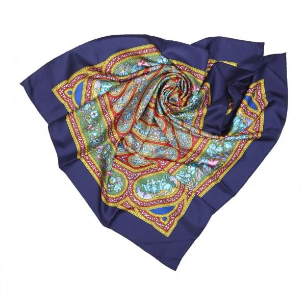 Hermès Vintage - Qalamdan Silk Scarf - Purple Multi - Silk Foulard - Luxury High Quality