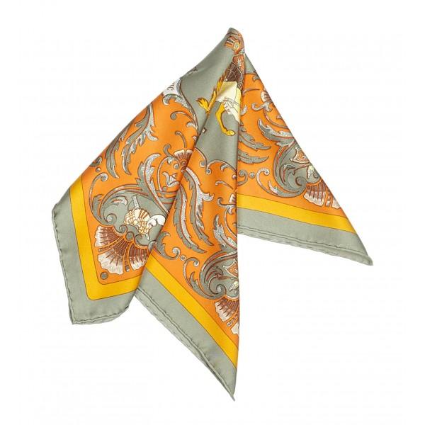Hermès Vintage - Cheval Turc Silk Scarf - Arancione Multi - Foulard in Seta - Alta Qualità Luxury