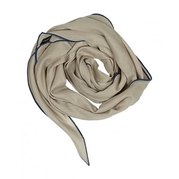 Hermès Vintage - Cotton Scarf - Marrone Beige - Foulard in Cotone - Alta Qualità Luxury