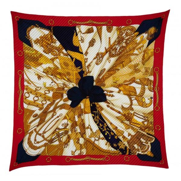 Hermès Vintage - Soleil de Soie Silk Scarf - Bianco Multi - Foulard in Seta - Alta Qualità Luxury