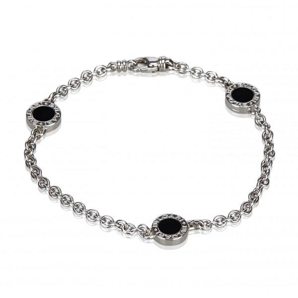 Bulgari Vintage - 18K Onyx Station Bracelet - Bracciale Bvlgari in Oro Bianco 18 Carati - Alta Qualità Luxury