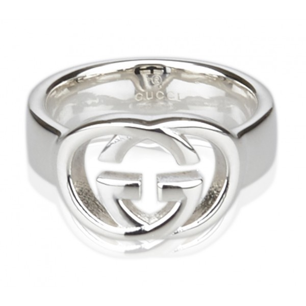 Gucci Vintage - GG Logo Band - Silver - Gucci Ring - Luxury High Quality