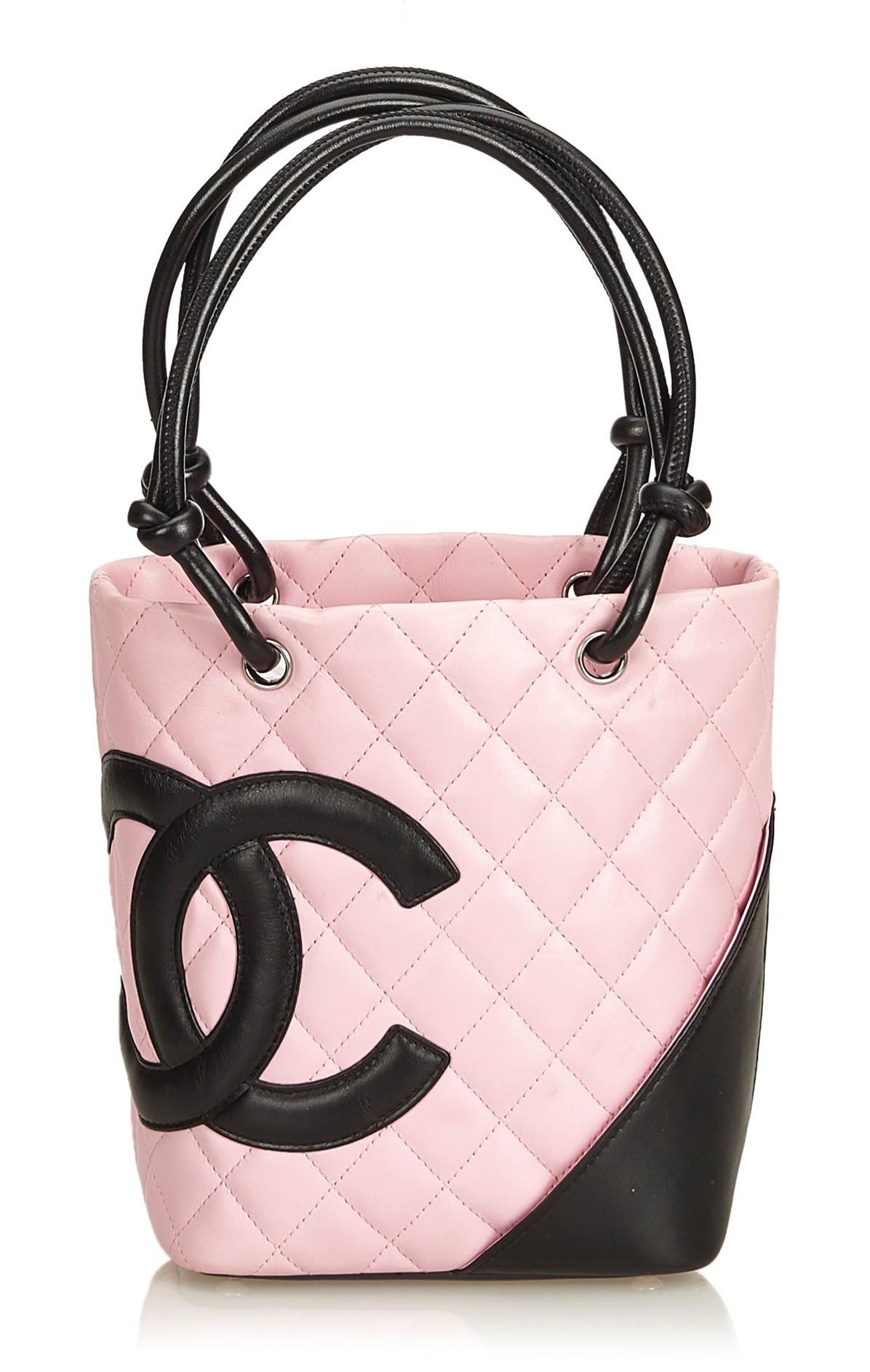2ea8df3733a437 Chanel Vintage - Cambon Ligne Petit Bucket Bag - Pink Black - Leather  Handbag - Luxury High Quality - Avvenice