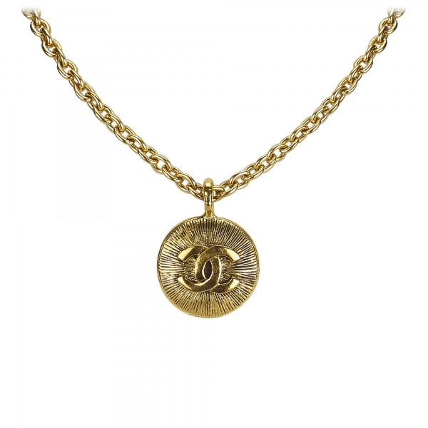 Chanel Vintage - CC Pendant Necklace - Gold - Necklace Chanel - Luxury High Quality