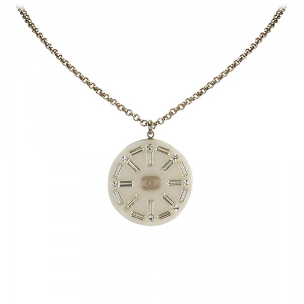 Chanel Vintage - Medallion Pendant Necklace - Gold - Necklace Chanel - Luxury High Quality
