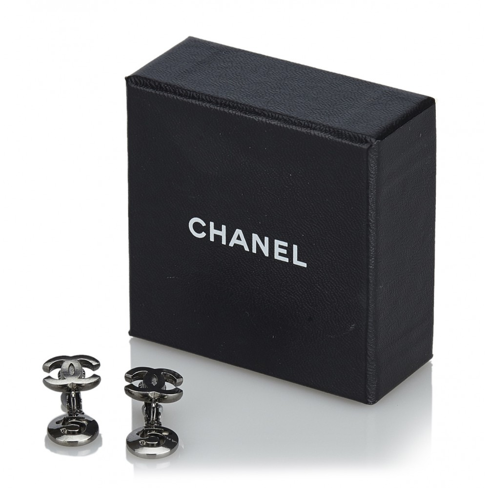 diversamente 93ebc 33d62 Chanel Vintage - CC No. 5 Drop Earrings - Argento - Orecchini ...