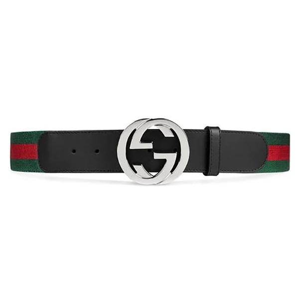 Gucci Vintage - GG Web Belt - Black Multi - Leather Belt - Luxury High Quality