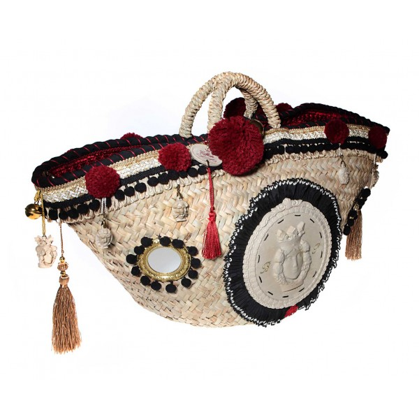 Coffarte - Great Mori Coffa - Sicilian Artisan Handbag - Sicilian Coffa - Luxury High Quality Handicraft Bag