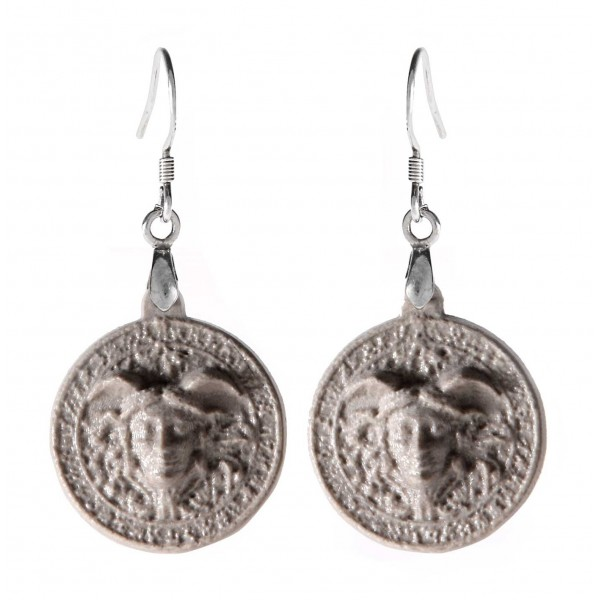 Coffarte - Medusa Earrings - Sicilian Artisan Earrings in Ceramic - Luxury High Quality Handcraft Earrings
