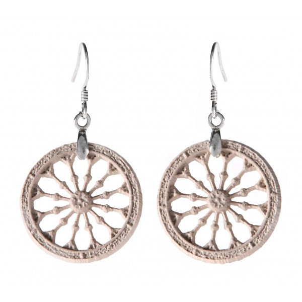 Coffarte - Sicilian Cart Wheel Earrings - Sicilian Artisan Earrings in Ceramic - Luxury High Quality Handcraft Earrings