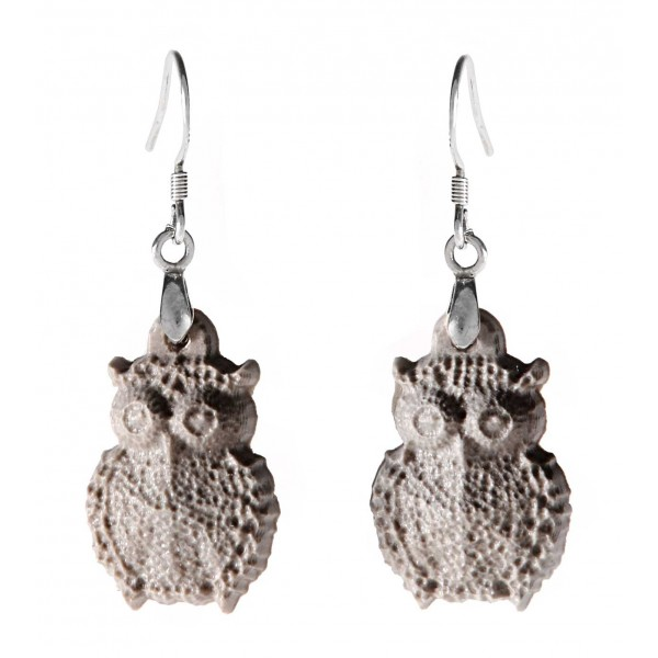 Coffarte - Owls Earrings - Sicilian Artisan Earrings in Ceramic - Luxury High Quality Handcraft Earrings