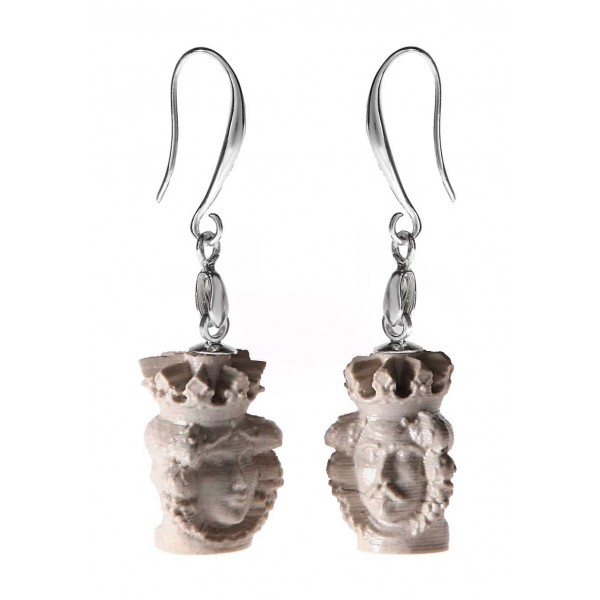 Coffarte - Mori 3D Earrings - Sicilian Artisan Earrings in Ceramic - Luxury High Quality Handcraft Earrings