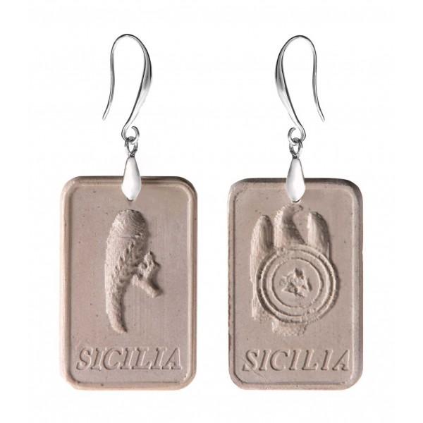 Coffarte - Orecchini Assi Siciliani - Coppa e Spada - Artigianali in Ceramica - Orecchini Artigianali di Alta Qualità Luxury