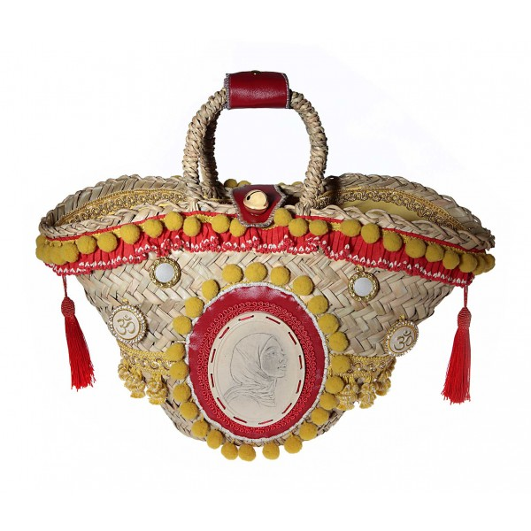 Coffarte - Medium Aisha Coffa - Sicilian Artisan Handbag - Sicilian Coffa - Luxury High Quality Handicraft Bag