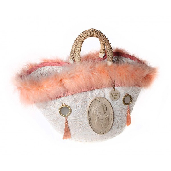 Coffarte - Medium Cameo Coffa - Sicilian Artisan Handbag - Sicilian Coffa - Luxury High Quality Handicraft Bag