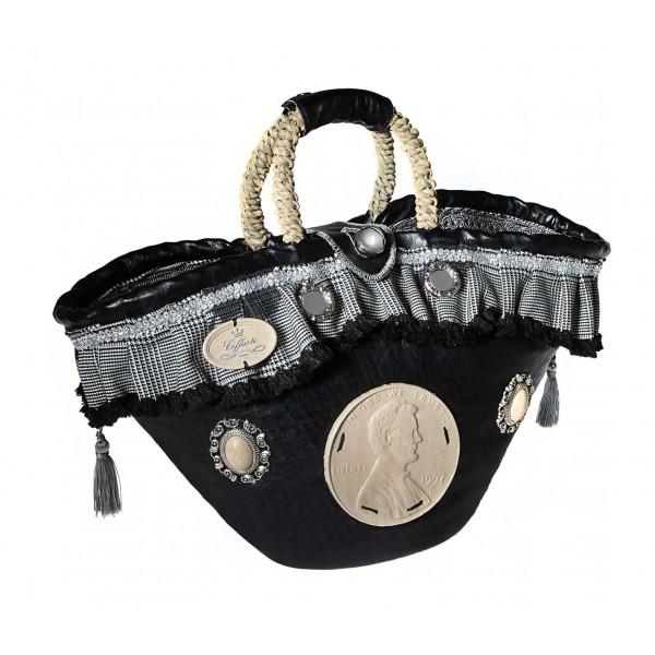 Coffarte - Medium Dollar Coffa - Sicilian Artisan Handbag - Sicilian Coffa - Luxury High Quality Handicraft Bag